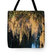 Golden Spanish Moss Tote Bag