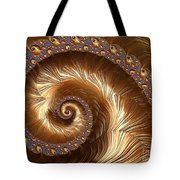 Golden Sparkling Spiral Tote Bag