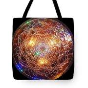 Golden Spiral Copper Lightmandala Tote Bag by Robert Thalmeier