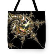 Golden Spirals And Spikes Tote Bag