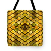 Golden Stained Glass Tote Bag