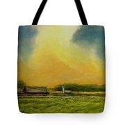 Golden Storm Tote Bag