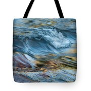 Golden Strands Of Water Tote Bag
