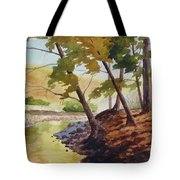 Golden Stream Tote Bag