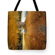 Golden Streets Tote Bag