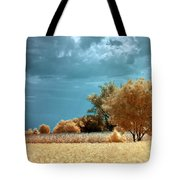 Golden Summerscape Tote Bag by Helga Novelli