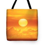 Golden Sunball Tote Bag