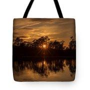 Golden Sunburst At The Lake New Jersey  Tote Bag