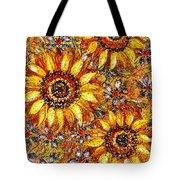 Golden Sunflower Tote Bag
