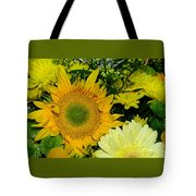 Golden Sunflower Yellow Bouquet By Kaye Menner Tote Bag