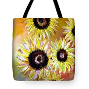 Golden Sunflowers Tote Bag