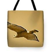 Golden Sunlight On Hawk Tote Bag