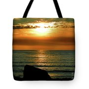 Golden Sunset At The Beach IIi Tote Bag