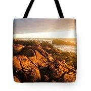 Golden Sunset Coast Tote Bag