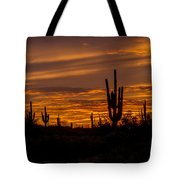 Golden Sunset Sky Tote Bag