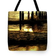 Golden Surf Tote Bag