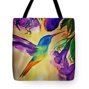 Golden Tailed Sapphire Tote Bag