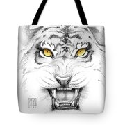 Golden Tiger Eyes Tote Bag