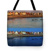 Golden To Blue Hour Puerto Sherry Cadiz Spain Tote Bag