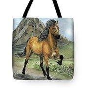 Golden Tolt Icelandic Horse Tote Bag