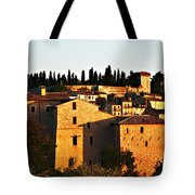 Golden Town Tote Bag