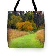 Golden Trail Tote Bag
