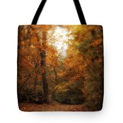 Golden Trail Tote Bag