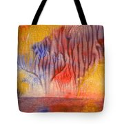 Golden Trees Of The Enchanted Forest Tote Bag