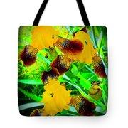 Golden Trio Of Iris Tote Bag