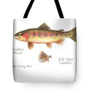 Golden Trout And Elk Hair Caddis Fly Tote Bag