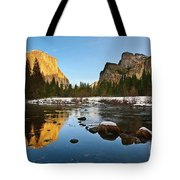 Golden View - Yosemite National Park. Tote Bag