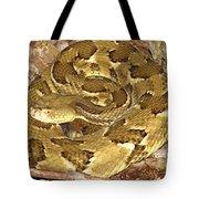 Golden Viper Tote Bag