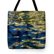 Golden Water With Rocks Tote Bag