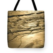 Golden Waves Tote Bag