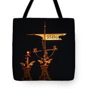 Golden Wind Vain Tote Bag
