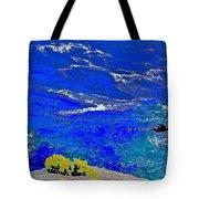 Golden Yarrow Rock Sea Point Lobos Tote Bag