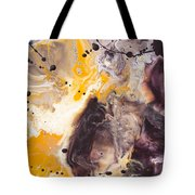 Golden Yellow And Purple Tote Bag