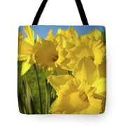 Golden Yellow Daffodil Flower Garden Art Prints Baslee Troutman Tote Bag