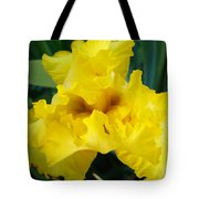 Golden Yellow Iris Flower Garden Irises Flora Art Prints Baslee Troutman Tote Bag