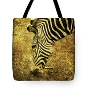 Golden Zebra  Tote Bag