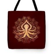 Golden Zen Octopus Meditating Tote Bag