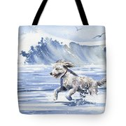 Goldendoodle At The Beach Tote Bag