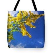 Goldenrod In The Sky Tote Bag