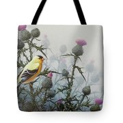 Goldfinch And Thistles Tote Bag