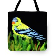 Goldfinch In The Garden Tote Bag