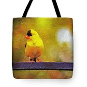 Goldfinch Sitting Pretty Tote Bag