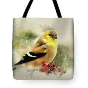 Goldfinch Watercolor Art Tote Bag