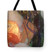 Goldfish Tote Bag by Gustav Klimt