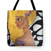 Golden With Background Tote Bag