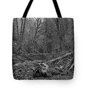 Goldstream Provincial Park Black And White Tote Bag
